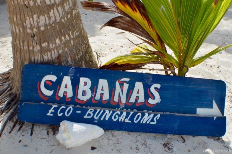 Tulum Beach signage.