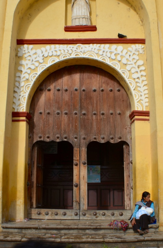 Church doorway. San Cristobal de Las Casas.