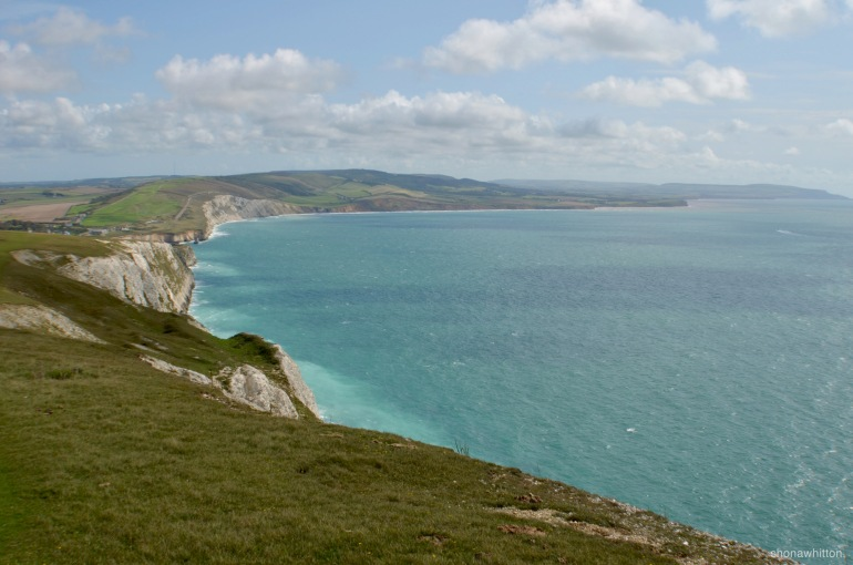Sunshine on the Isle of Wight. Freshwater Bay.