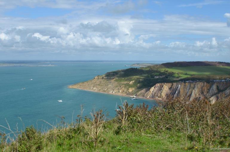 Alum Bay. Coastal Path, Isle of Wight.