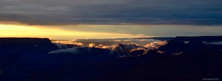 Canyon sunset.