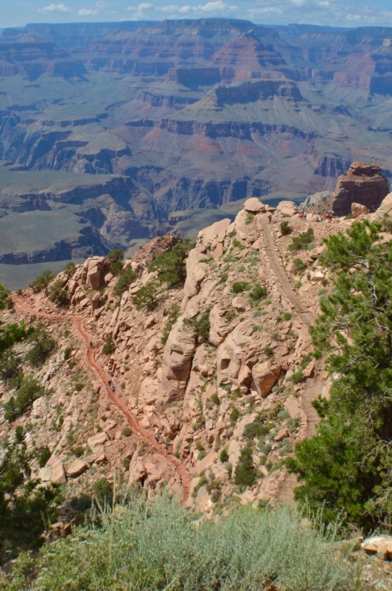 Down is optional, up is mandatory. South Kaibab Trail. Grand Canyon National Park, Arizona.