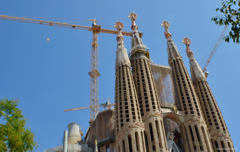 La Sagrada Familia. Eternally under construction.